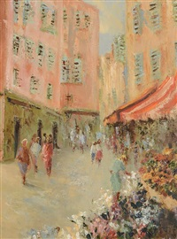 vence market, france by thelma mansfield