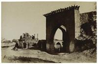 gateway for the nukar khana of nawab mustafa khan's palace, india by thomas biggs