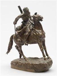 a cossack on horseback by artemi lavrentievich ober