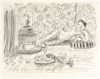 odalisque, brasero et coupe de fruits by henri matisse