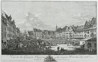 la place du vieux marché et la rue du château royal à dresde by bernardo bellotto