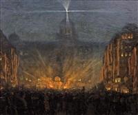 václavské náměstí v noci by t. frantisek simon