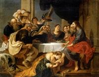 maría magdalena perfumado los pies de cristo (cristo en casa de simón el fariseo) by victor wolvoet