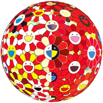 flowerball red (2d) the magic flute by takashi murakami