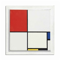 composition no. iii, with red, blue, yellow, and black, 1929 by piet mondrian