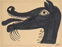 tête d'animal satirique by andré derain