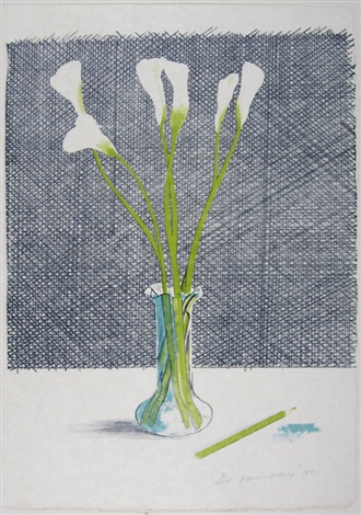 lillies (from europäische graphik vii) by david hockney