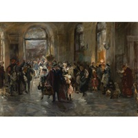 at the station by ferdinand brutt