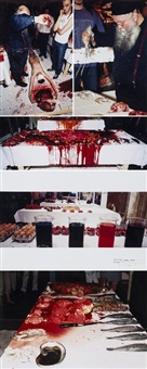 lotto unico di cinque opere by hermann nitsch