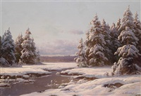 winterlandschaft by carl kenzler