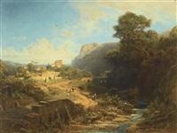 italienische landschaft (italian landscape) by carl spitzweg