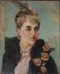 woman portrait by alexis paul arapov