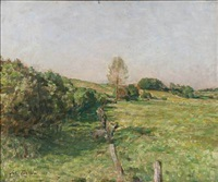 danish summer landscape by julius paulsen