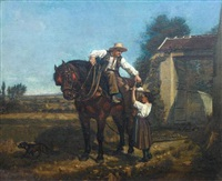 the ploughman's lunch by charles edouard frère
