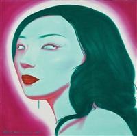 chinese portrait b series no.9 by feng zhengjie
