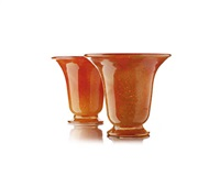 vase (+ another; pair) by monart