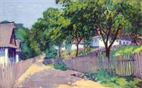 street in the sunshine by géza kádár