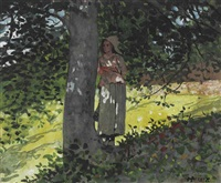 a shady spot, houghton farm by winslow homer