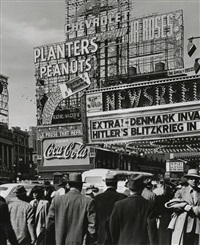 hitler's blitzkrieg, times square by andreas feininger