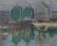 rockport harbor scene by charles salis kaelin
