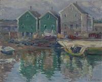 rockport harbor scene by charles salis kaelin