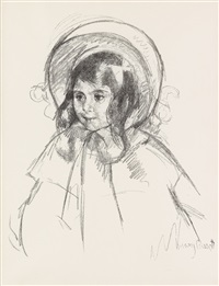 sara wearing her bonnet and coat by mary cassatt