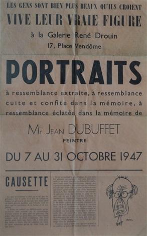 portraits à ressemblance extraite à ressemblance cuite et confite dans la mémoire à ressemblance éclatée dans la mémoire de mr jean dubuffet bk w20 works by jean dubuffet