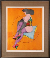 circle and pillow (from the afternoon series) by richard lindner