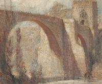 alcantara bridge, in the alcazar, toledo spain by george wharton edwards