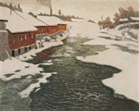 vinter i norge by frits thaulow