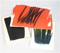 farandole (poems of jean proal w/set of 15 original lithographs) by hans hartung