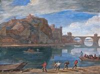 le passage du bac devant la ville d'avignon by mathys schoevaerdts