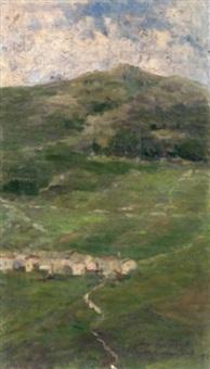 veduta di campofontana (studio per un nido sull'alpe) by vittorio avanzi