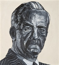 robert mcfarlane (from the men with no lips) by robbie conal