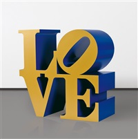 love (gold-bule) by robert indiana