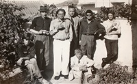 orlovsky, burroughs, ginsberg, ansen, bowles, corso, sommerville, villa mouveria, tangier by allen ginsberg