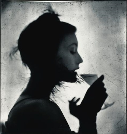 girl drinking mjr new york by irving penn