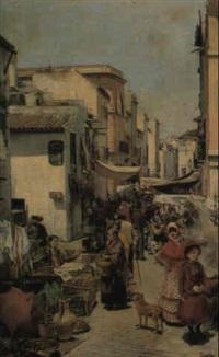 a market, seville by enrique cabral y llano