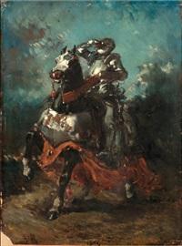 cavalier en armure by eugène delacroix