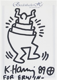 the man in the man by keith haring