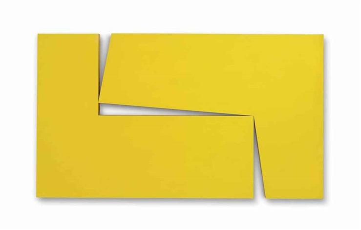 amarillo dos (from the series estructuras) by carmen herrera