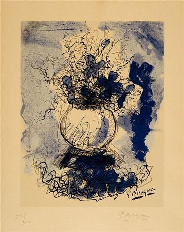 bouquet fleurs à laquarelle by georges braque