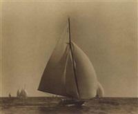 yacht race off marblehead by willard bramwell jackson