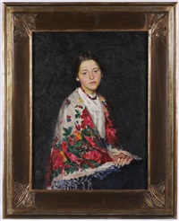 portrait of a young girl (two-sided painting) by bedrich wachsmann