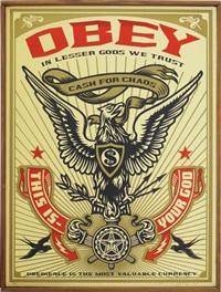 lesser gods eagle by shepard fairey