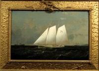 portrait of the pilot boat enchantress by conrad freitag