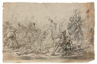 scène de bataille by cornelis schut the elder