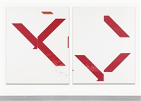 untitled (in 2 parts) by wade guyton