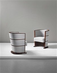 important and unique pair of armchairs by axel einar hjorth