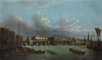 an extensive view of the thames and the city of london by samuel scott